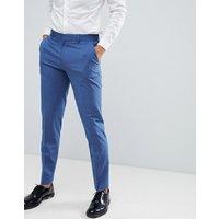 Pantalones de vestir ajustados en azul claro de ASOS DESIGN