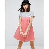 ASOSASOS Denim Strapless Dress in Pink - Pink