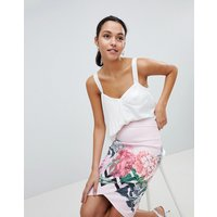 Ted Baker Palace Gardens Pencil Skirt - Pale pink
