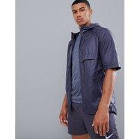 Nike Running Just Do It print short sleeve jacket in purple 928491-081 - Purple