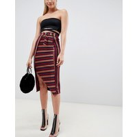 ASOS DESIGN stripe midi pencil skirt with D-ring