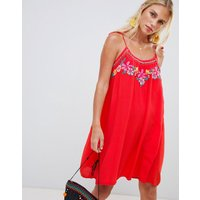 Accessorize Hot House Embroidered Beach Dress Red - Red