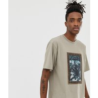 Heart & Dagger oversized t-shirt with print - Stone