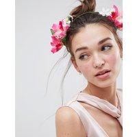 Asos Design Summer Bloom Side Garland Headband - Multi