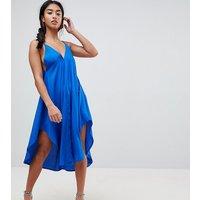 ASOS PetiteASOS PETITE Cami Beach Dress with Dipped Hem - Cobalt