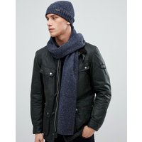 Barbour Donegal Knit Gift Set Scarf And Hat In Navy - Navy