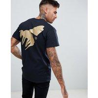 Abuze LDN Gold Logo Back Print T-Shirt - Black / gold