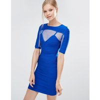 Forever UniqueForever Unique Anousha Short Sleeve Bandage Dress With Mesh Inserts - Blue