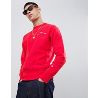 Champion reverse weave sweatshirt with back logo in red - Red