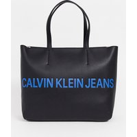 Calvin Klein Jeans Tote Bag With Logo - Black