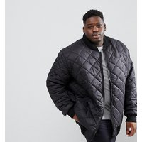 Loyalty and Faith PLUS Quilted Zip Thru Bomber Jacket - Black