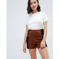ASOSASOS co-ord Knitted Shorts in Colorblock - Multi