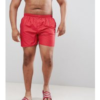 French Connection Plus Dot Swim Shorts - Red