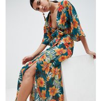 Falda maxi con estampado tropical de PrettylittleThing