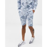 Soul Star co-ord printed jersey shorts - Grey
