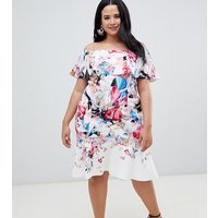 Coast Plus Jackie scuba off shoulder dress