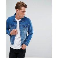 LDN DNM Denim Jacket in Lightwash Blue - Blue