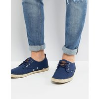 Superdry Skipper Canvas Shoe In Navy - Mx7