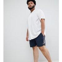 French Connection Plus Retro Swim Shorts - Runner Navy