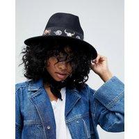 Sombrero panamá de fieltro con banda estampada y talla ajustable de ASOS