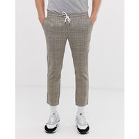 Only & Sons checked drawstring trousers - Crockery