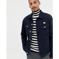 Love Moschino navy denim jacket with chest placket - Navy