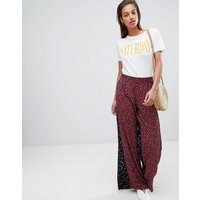 French Connection Culottes In Obine Floral - Mimosa Black