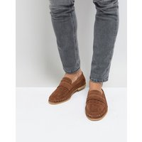 Silver Street Woven Loafers In Tan Suede - Tan