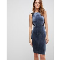 French Connection Viven Velvet Panel Bodycon Dress - Nocturnal