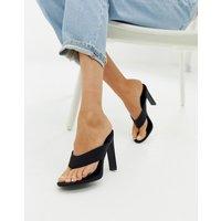 Simmi London black toe post heeled sandals - Black