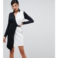 ASOS TALL Colourblock Blazer Dress with Belt - Multi