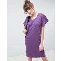 Cheap Monday Hacker Outline Media T-shirt Dress - Lilac