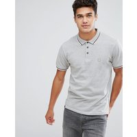Le Breve Tipped Polo Shirt - Grey