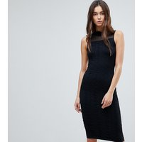 Y.A.S TallY.A.S Tall Cilla Textured Jersey With Mesh Evening Dress - Black