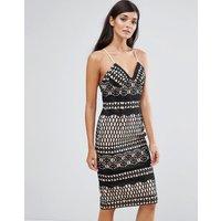 AijekAijek Lace Bodycon Dress - Black