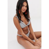 Accessorize Ruffle Tanga Bikini Bottom In Stripe