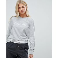 Calvin Klein Comfort Cotton Long Sleeve Pyjama Top - Grey Heather