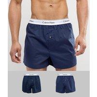 Calvin Klein Woven Boxers 2 Pack Modern Cotton - Navy