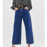 Falda pantalón vaquera en azul medio de Mango
