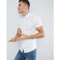 Superdry Short Sleeve Oxford Shirt In White - White
