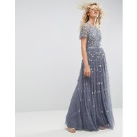 Needle & ThreadNeedle and Thread Embellished Maxi Gown - Vintage blue