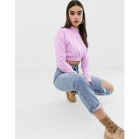 ASOS DESIGN super crop sweatshirt in lilac - Lilac