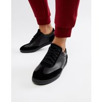 Polo Ralph Lauren Cadoc Leather & Suede Trainers in Black - Black