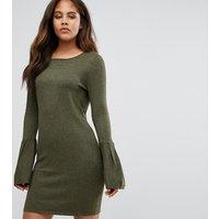 Vero Moda TallVero Moda Tall Bell Sleeve Jumper Dress - Dark olive