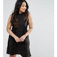 AX ParisAX Paris Plus Ruffle Panel Dress - Black