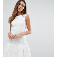 WarehouseWarehouse Bonded Lace Peplum Dress - White
