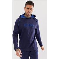 BOSS Bodywear Heritage logo hoodie in navy - Navy