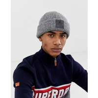 Superdry Downtown beanie in grey - Silver