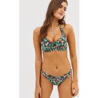 Pour Moi Heatwave floral underwired halter bikini top in multi D-H cup - Multi