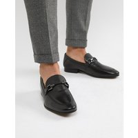 Base London Soprano Bar Loafers In Black - Black